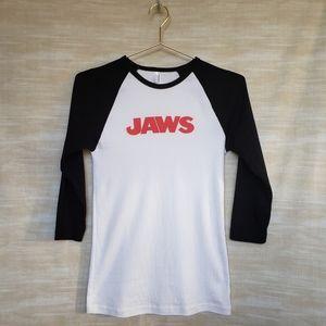 American Apparel JAWS 🦈 graphic baseball tee